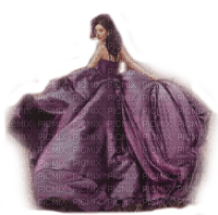 woman purple dress femme robe violet
