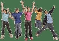 school children jumping êcole enfant