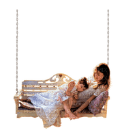 Mother.mère-Daughter.fille.girl.Femme.Woman.Hammock.rest.chaise longue.Hanging chair.Victoriabea