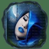 woman face femme blue