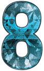 Kaz_Creations Numbers Blue Crystal 8