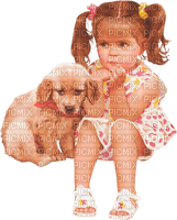 child dogs enfant chien