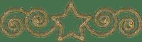 barre étoile dorée