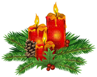 christmas candle deco bougie noel