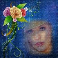image encre couleur texture effet femme visage fleurs roses printemps mariage edited by me