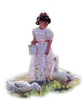 enfant canards êtê vintage summer child ducks