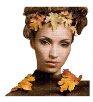 woman orange autumn femme orange automne