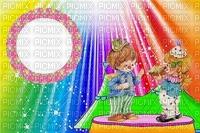image encre couleur effet cirque carnaval cadre bon anniversaire  edited by me