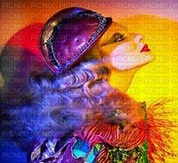 image encre couleur texture effet néon femme deco chapeau edited by me