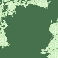 GREEN STARS FRAME vert cadre etoiles