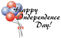 Kaz_Creations America 4th July Independance Day American Balloons Text