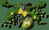 minou-yellow flowers leaves lantern-gula blommor blad lykta