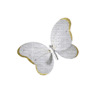 Butterfly White N Gold