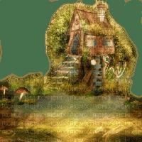autumn automne herbst landscape background fond paysage landschaft image tube overlay forest house fantasy