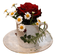 coffee good morning cup flowers_café bonjour tasse fleurs