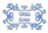 soave text deco with love valentine's day blue