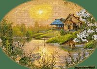 landscape spring garden_jardin printemps-paysage-nature_paysage_nature_sunset