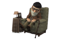 man mann homme tube image human people grandpa opa room chair chambre furniture