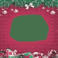soave frame christmas ball branch pink green