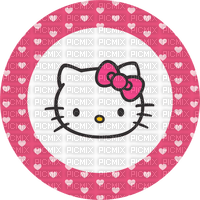 Hello kitty rond cercle rose Debutante coeurs pink round heart