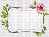 Etiquette fleurie-rose,