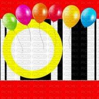 image encre bon anniversaire color effet ballons  edited by me