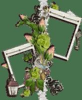 Paper Flower Garden roses frame
