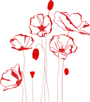 Fleur.Coquelicots.Poppies.Flowers.Deco.Art.Red.Victoriabea