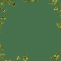 frame green leaves cadre vert feuilles
