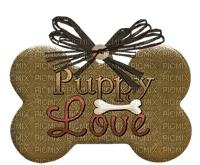 Kaz_Creations Deco Tag Text  Puppy Love