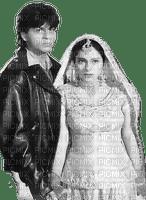soave bollywood Shahrukh khan couple black white
