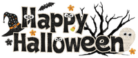 happy halloween text vintage