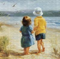 enfants sur plage