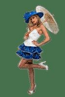 Kaz_Creations Woman Femme Parasol Blue