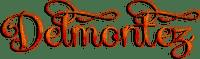 soave text logo delmontez orange
