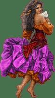 femme violette- woman purple