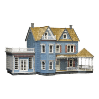 Blue Victorian House Doll House