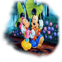 mickey and minnie mouse in rain