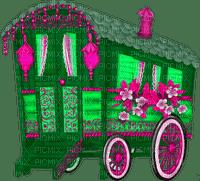 Gypsy Camper.Pink.Green