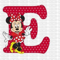 image encre lettre E Minnie Disney edited by me