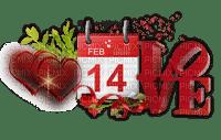 calendar text valentine valentin heart coeur deco