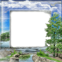 landscape frame river tree