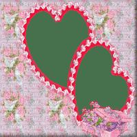 PINK HEARTS FLOWER FRAME