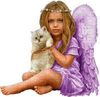 ange enfant chat ANGEL CHILD WITH CAT