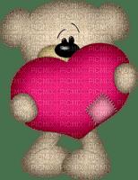 Kaz_Creations Deco Teddy Bear Love Heart Valentine's Hearts Colours