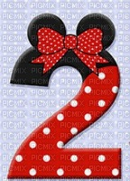 image encre numéro 2 bon anniversaire Minnie Disney edited by me