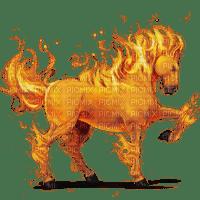 fire horse cheval feu