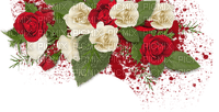 RED WHITE ROSES DECO rouge blanc rose