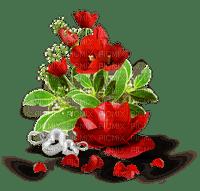 Tulipes - Rose & pétales de rose