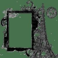 frame cadre rahmen black vintage paris eiffel tower postcard